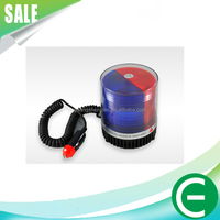Red & Blue Police Beacon Rotating Flashing Strobe Warning LED Lights For Emergency police warning light led warning light