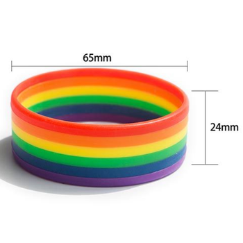 Higher quality Rainbow silicone wristband