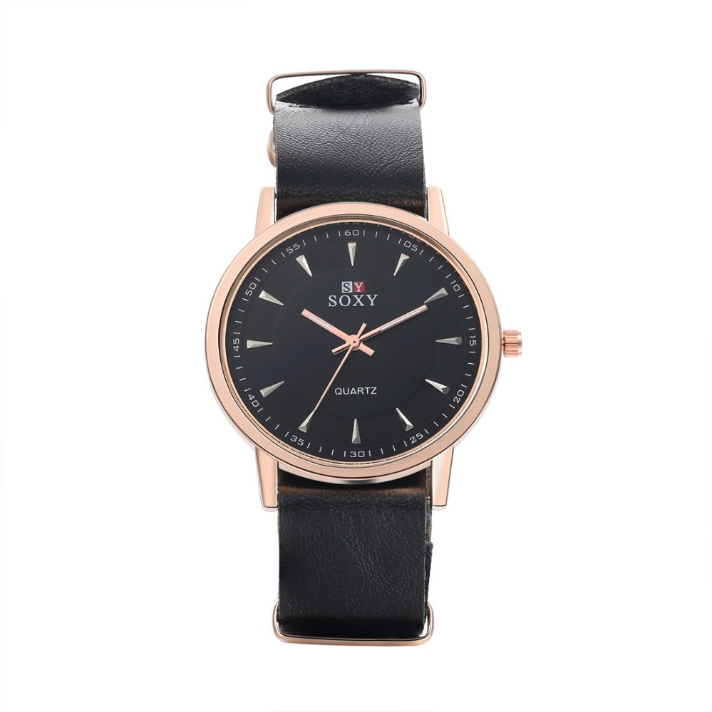 wholesale cheap price leather strap western custom watches for man