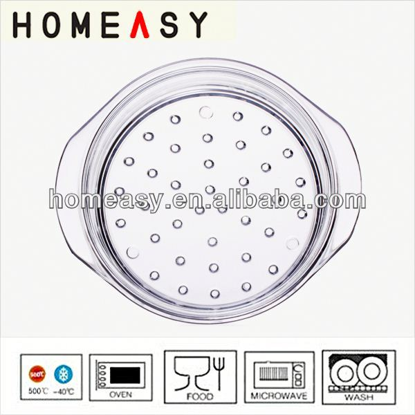 2014 new product Borosil glass 20cm 24cm best food steamer made in china