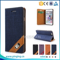 Stylish Wallet Style Canvas Grid pu leather flip cover case for Huawei D199