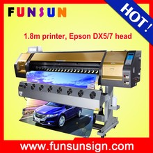 best price Funsunjet FS-1802G 1.8m plastic film printer with two dx5 head1440 dpi for vinyl adhesive sticker