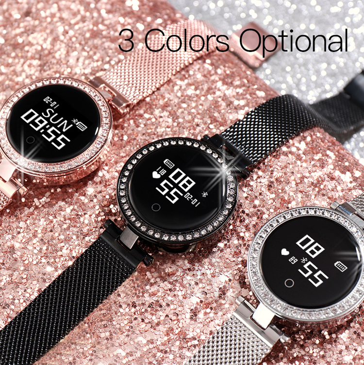 Ladies Smart Watch X10 with Female Physiological Cycle Blood Pressure Heart Rate Monitor round smartwatch