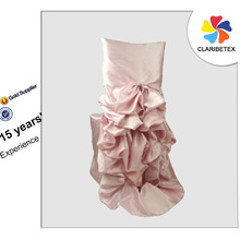 China Suppliers Elegant Light Pink Taffeta Diana Chair Cover