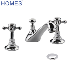 3 Tap Hole Basin Mixer tap with Pop-up Waste