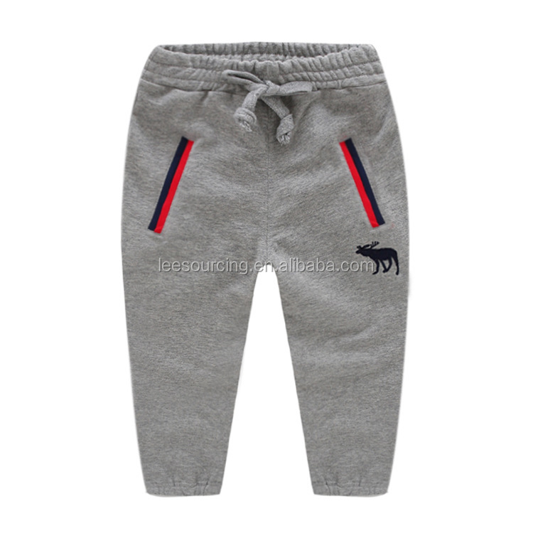 Wholesale baby embroidery pants boys sports pants cotton trousers for kids