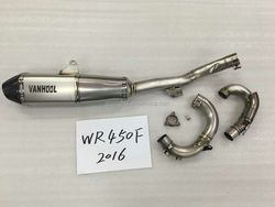 Complete performance racing street use exhaust pipe system for WR450F 2016