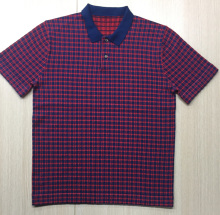 KNITTED CHECK POLO SHIRTS FOR MENS SUMMER SPRING GOLF STYLE CHECK JACQUARD