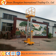 100KG 10m hydraulic home elevator/movable aluminum ladder single man lift