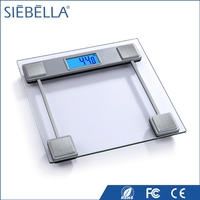 Fashion design Crystal glass platform personal body weight scale with smart digital LCD dispaly