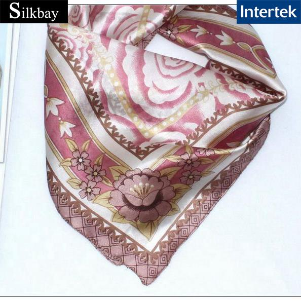fashion digital print women scarf silk neckerchief