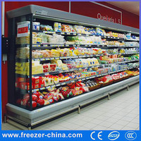 2015 Upright Hotsale Commercial Brand Open Chiller for fruit and vegetables