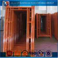 Types of Powder Coated Walkthrough Frame Scaffolding System for sales