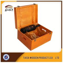 With Professional Team And Equipments Accept Customization 3 Bottle Wooden Wine Box