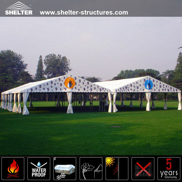 Long life span party tents globe lights