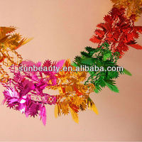 Red Yellow Pink Green Christmas Foil Garland