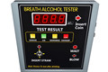 Hot selling alcohol tester with gold coin tester at public place bar coin alcohol tester for safe driving