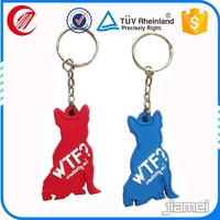 Promotion advertising top quality unique soft pvc key chain custom
