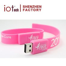 Promotional Gift Silicone Wristband Pendrive 2/8/32/64GB,Wholesale Bracelet USB Flash Drive