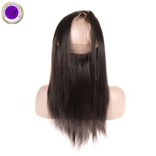 Virgin Remy Brazilian Silky Straight 360 lace frontal
