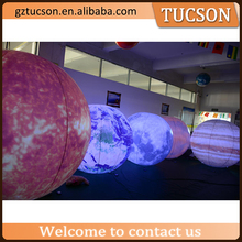 1.5m inflatable led planet inflatable Jupite/inflatable mars/inflatable earth for sale