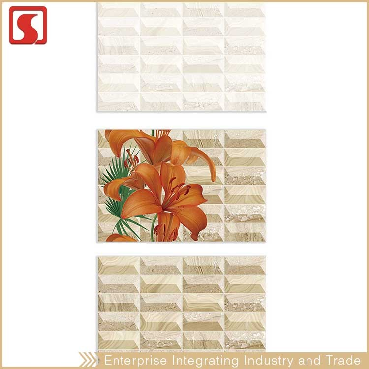 Thai Ceramic Porcelain Travertine Tile , Wear-Resistant Tile 200X600Mm