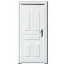 HS-1879 white color apartment building front steel entry doors