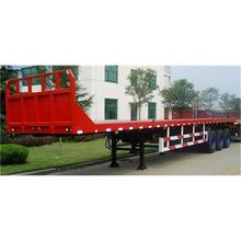 three FUWA axle driving Max payload 45ton 40ft flat bed trailer