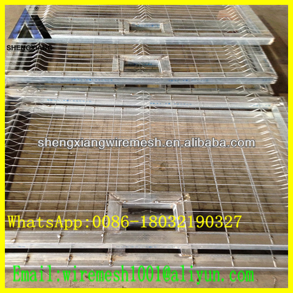 Hot sale Galvanized flat panel fence gates
