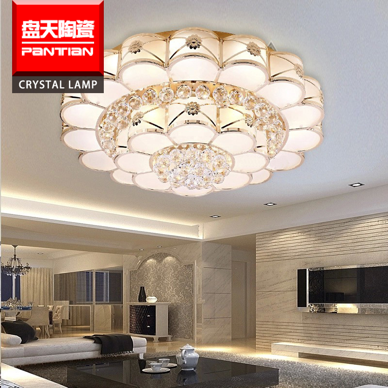 Hot sale led modern ceiling lamp drop crystal ceiling light fixture for hotel living room