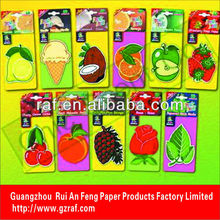 Guangzhou Drinking cotton paper card air freshener/home freshener/car wash air freshener for promotion and gift
