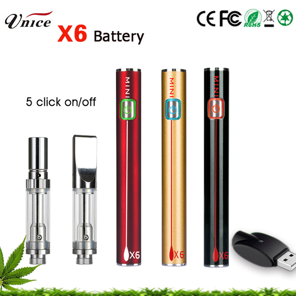 x8 battery 300mah rechargeable variable voltage preheat 510 screw USB charger with 4.2V input