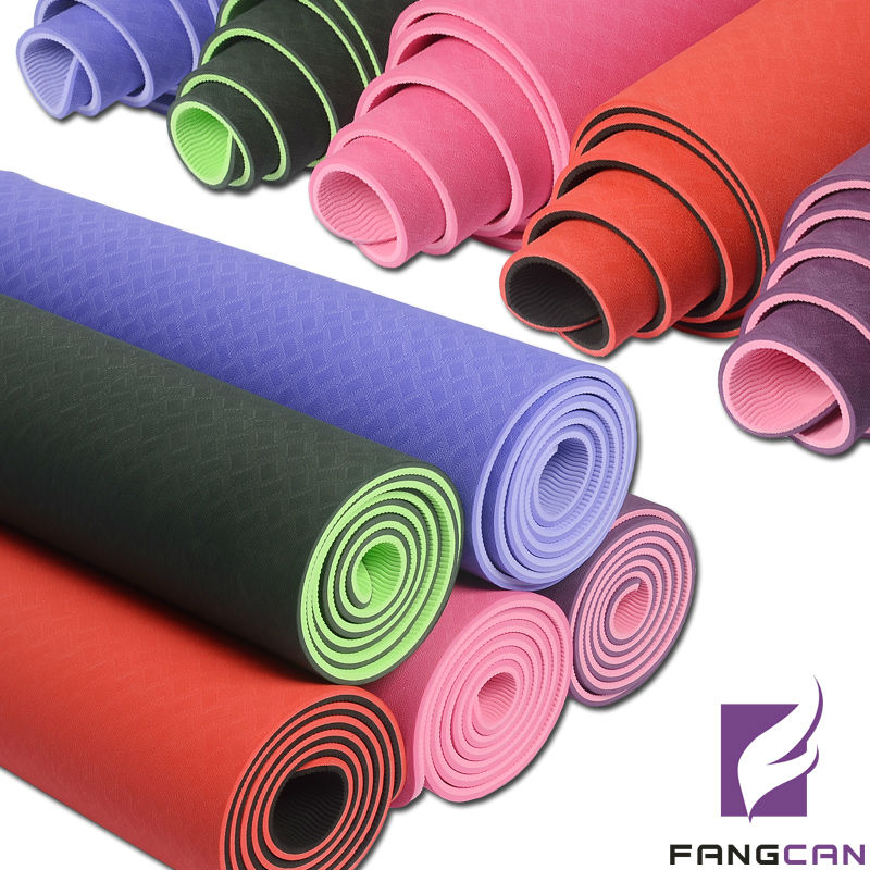 Custom OEM Manufacturer For Professional Embossed Printing Logo Eco Yoga Mat/Anti-slip Rubber TPE Yoga Mat
