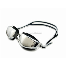 Safety Tempered Glass Silicone Myopia Swim Goggles with Degree option