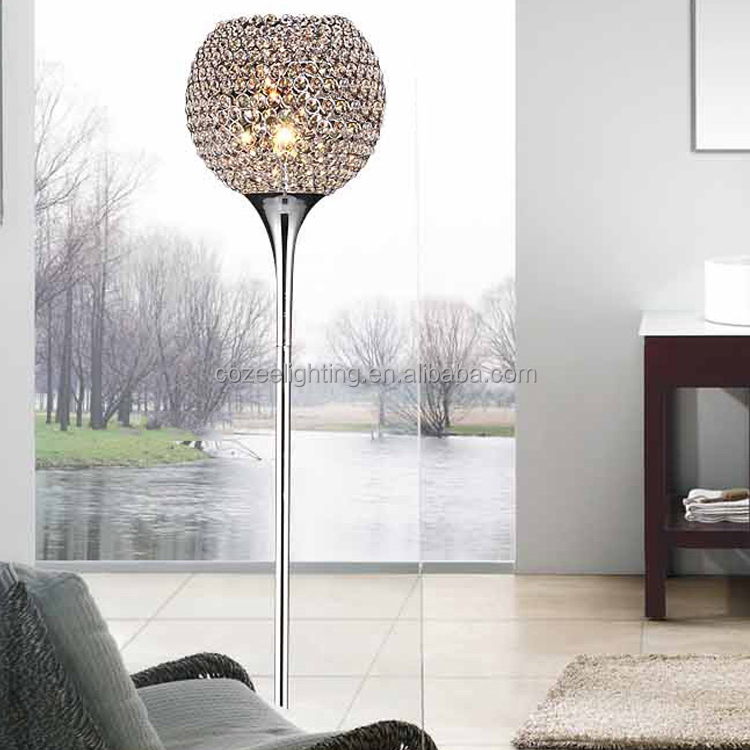 Modern Contemporary Crystal Floor Lamps LED Standing Floor Light for Home Hotel Decor FL027