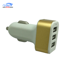 Promotional Colorful 5V 2.4A USB Multi Car Charger Triple USB Ports For Smartphone