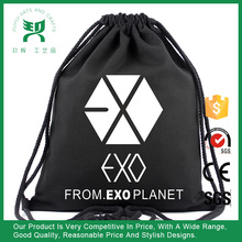 Factory price recyclable handmade cotton gym sack drawstring bag