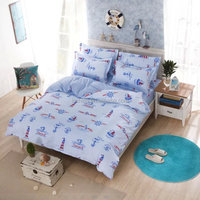 kids children bedding ocean navy bedding set