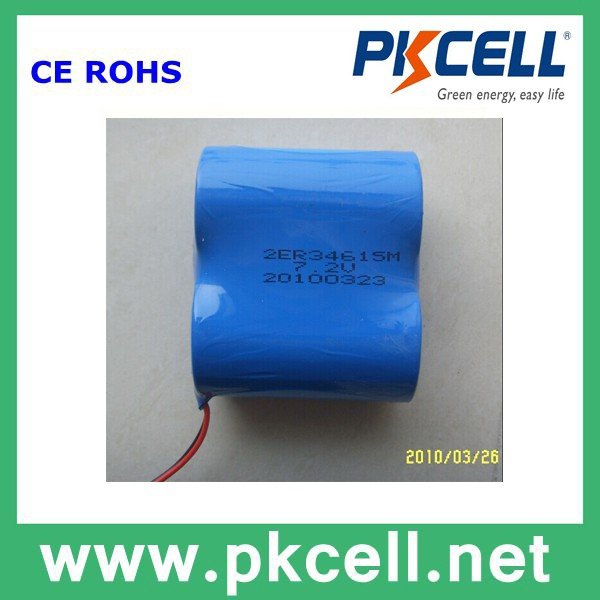 Non-Rechargeable Lithium Ion D Size Cell Batteries Pack 7.2V/ 3.6V Li-Socl2 Er34615/ Er34615H/ Er34615M Battery