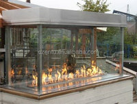 large outdoor ethanol fireplace