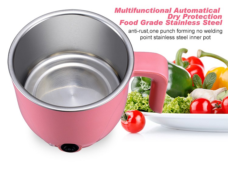 Functional electric travelling steamboat cooker with PP plastic housing & unique design F06