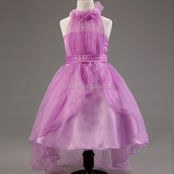 Top Quality Fashion Baby Girls Party Wear Flower Dress Wholesale Cute Pink Purple Frock Design For Children