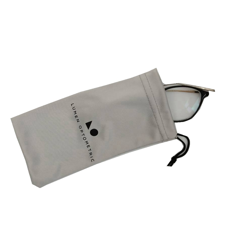 Logo printed custom cheap durable eco friendly microfiber glasses pouch