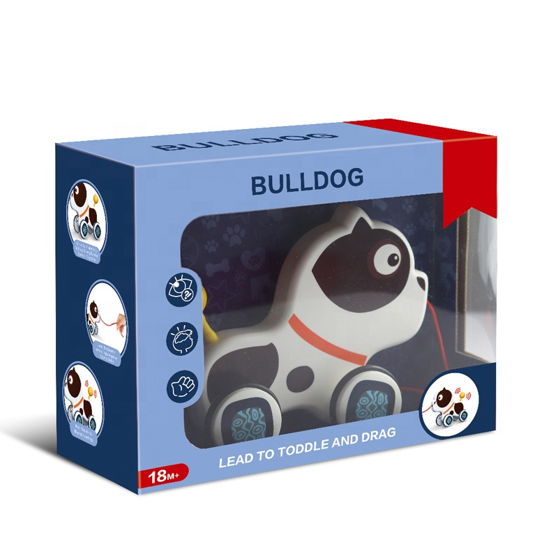 Spotty Dog Pull Push Toys For Beginner Walkers
