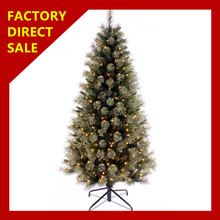 Most popular 3d outdoor led Christmas tree Artificial PE/PET Christmas tree