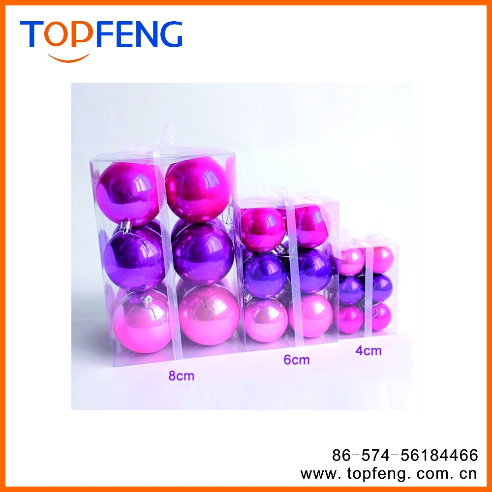 christmas plastic ball  wholesale clear plastic ball
