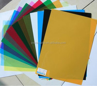 A4 130mic PVC transparent or colorful pvc binding covers/book covers