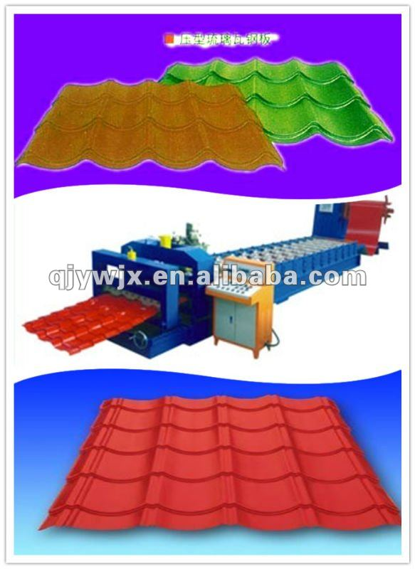 New Type Antique Metal Plate Roof Tiles Making Machine