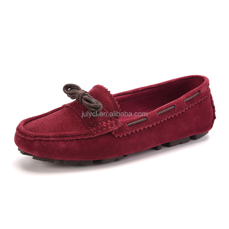 imported custom latest new design leather italian ladies shoes wholesale flat casual shoes in china manufacturers