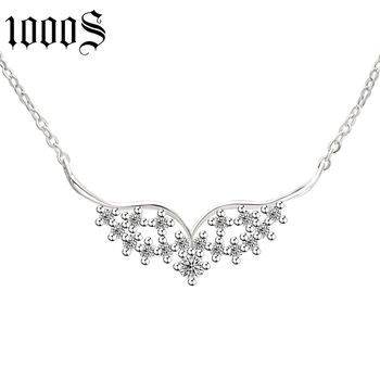 fashion 925 sterling silver wing shape rhodium plating pendants